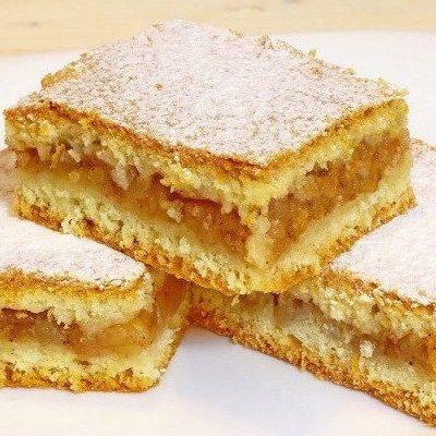 яблочный пирог из песочного теста